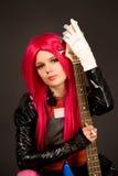 girl guitar portrait romantic Στοκ εικόνες με δικαίωμα ελεύθερης χρήσης