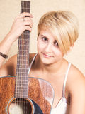 Girl with the guitar Royalty Free Stock Image