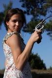 Girl with gun Stock Photos