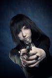 Girl with gun Royalty Free Stock Image