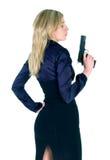 Girl with gun Stock Image