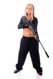 Girl with gun Royalty Free Stock Photo