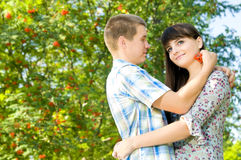Girl and  guy Royalty Free Stock Images