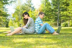 Girl and  guy Stock Photo