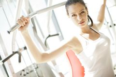Girl at the gym Royalty Free Stock Photo