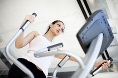 Girl in the gym Royalty Free Stock Images