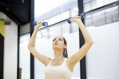 Girl at the gym Stock Images
