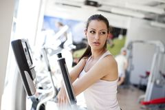 Girl at the gym Stock Photos