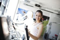 Girl at the gym Royalty Free Stock Image