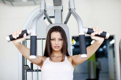 Girl at the gym Stock Image