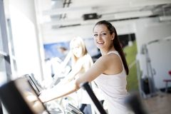 Girl in the gym Stock Photography
