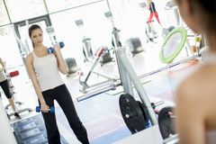 Girl in the gym Stock Photos