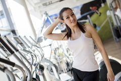 Girl in the gym Stock Image