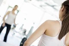 Girl at gym Stock Photo