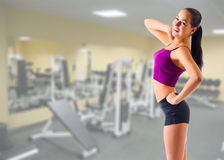 Girl at gym club Stock Photography