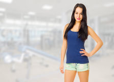 Girl at gym club Royalty Free Stock Images