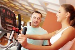 Girl in gym Stock Photos