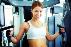 Girl in gym Stock Photos