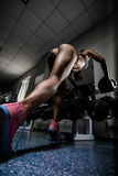 Girl in a gym Royalty Free Stock Photography