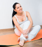 Girl in gym Stock Image