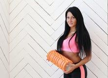 Girl in the gym stock photos