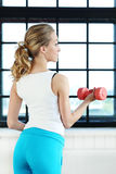 Girl in the gym Royalty Free Stock Photography