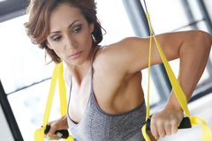 Girl at gym Royalty Free Stock Images