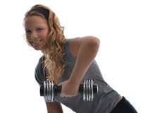 Girl in gym Royalty Free Stock Image