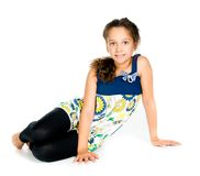 Girl gymnast Stock Photo