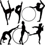 Girl gymnast athlete stock illustration