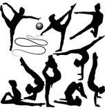 Girl gymnast athlete vector illustration