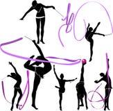 Girl gymnast athlete royalty free illustration