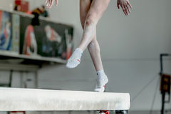 Girl gymnast athlete Stock Photography