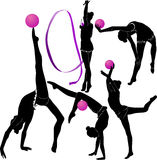 Girl gymnast athlete. Sport star vector illustration
