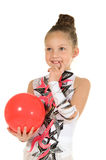Girl gymnast with a ball Royalty Free Stock Photos