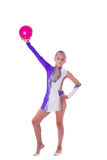 Girl gymnast with a ball Stock Image