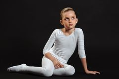 Girl gymnast Royalty Free Stock Photo