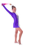 Girl gymnast standing with ribbon Stock Image