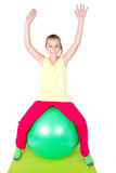 Girl with gymnastic ball Stock Image