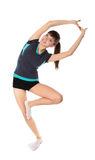 Girl in gymnastic poses Stock Photos