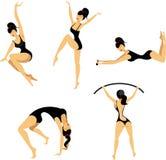 Girl gymnastics Stock Image