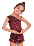 Girl in gymnastics poses royalty free stock images