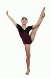 Girl in gymnastics poses Stock Photography