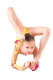 Girl gymnasts, doing some exercises Stock Image