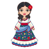 The girl in Gypsy dress. Historical clothes. Stock Photos