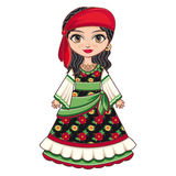 The girl in Gypsy dress. Historical clothes. Royalty Free Stock Images