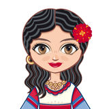 The girl in Gypsy dress. Historical clothes. Portrait, avatar. Royalty Free Stock Photo