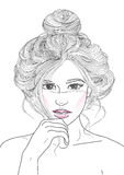 girl with hair beam bump Stock Image