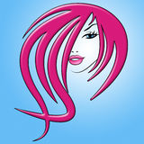 Girl Hair Indicates Facial Care And Attractiveness Royalty Free Stock Image