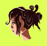 Girl with hair up Stock Photography